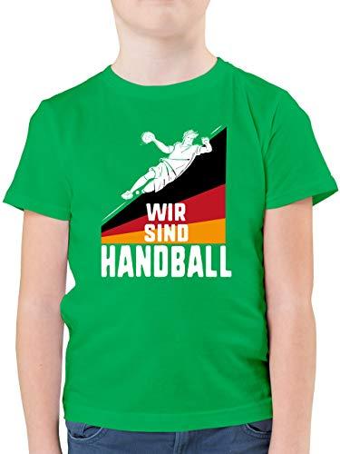 Handball WM 2021 Kinder - Wir sind Handball! Deutschland - 164 (14/15 Jahre) - Grün - Teamsport - F130K - Kinder Tshirts und T-Shirt für Jungen