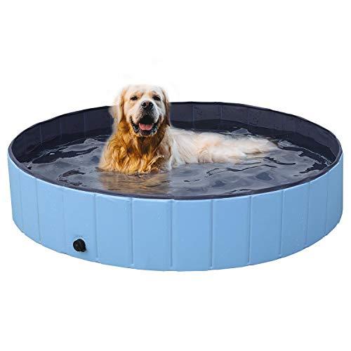 Yaheetech Hundepool Swimmingpool Planschbecken Badewanne Wasserbecken für Hunde 140 x 30 cm