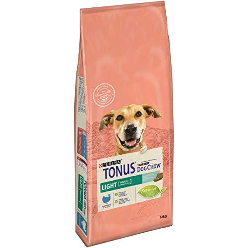 Purina Tonus Dog Chow Adult Light Cane Crocchette con Tacchino, 14 kg