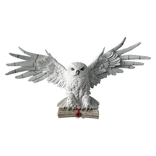 NN Wandrelief Figur Eule Schnee Eule Wanddekoration Hedwig