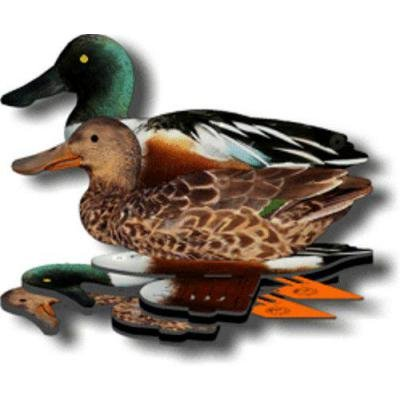 FUD Northern Shoveler Duck Decoys - Foldable,Collapsible - Perfect Duck Decoys for Land & Water - Hunting Duck Decoys Includes Anchors, Anchor String & Fudslinger, Pack of 6 (Northern Shoveler Decoys)