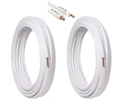 kit tubi rame per climatizzatore coppia 10 mt da 1/4 10 mt da 3/8 totale 20 mt