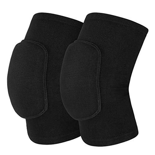 Mclako Knee Pads Knee Guards, Soft Breathable Knee Pads for Men Women Kids Knees Protective, Knee Braces for Volleyball Football Dance Yoga Tennis Running cycling Full Black(L)