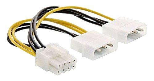 InLine 26628C Stromadapter intern, 2x 4pol zu 8pol für PCIe (PCI-Express) Grafikkarten, 0,15m