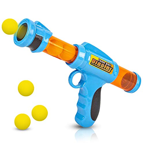 ArtCreativity Foam Ball Launcher with 6 Balls, Pump Action Shooting Toy Blaster for Kids, Outdoor Summer Fun, Fetch Toy for Dogs, Best Holiday or Birthday Gift for Boys and Girls