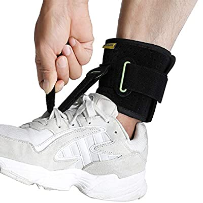Adjustable Drop Foot Brace for Walking, Foot Up AFO Brace Unisex Fits for Right/Left Foot Orthosis Ankle Brace Support, Improve Walking Gait, Effective Relieve Pain for Achilles Tendon