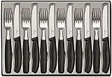 Victorinox Swiss Classic 12-tlg. Besteck Set, für 6 Personen, 6 x Tafelmesser, 6 x Essgabel, Spülmas