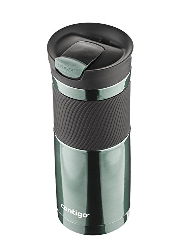 Contigo SnapSeal Byron Vacuum Insulated Stainless Steel Travel Mug, 20oz, Greyed Jade