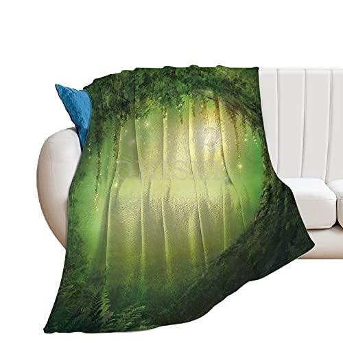DKISEE Dekorative Überwurfdecke für Erwachsene oder Kinder, Bäume, Duschvorhang; Feen-Dekor, Flanelldecke, Überwürfe für Bett/Couch/Sofa/Büro/Camping, 127 x 152,4 cm