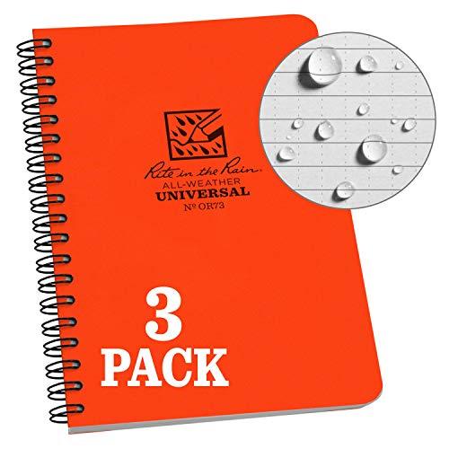 Rite in the Rain Unisexe étanche d'extérieur Carnet de notes - Orange - 1 Pack