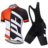LLYY Traje de Ciclismo para Hombre de Equipos Ciclismo Ropa,Ropa de Ciclismo 20D Gel Pad Shorts Bike Jersey Set Ropa para hombre-A13_L