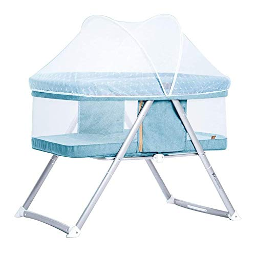 Best Buy! HIZLJJ Bedside Sleeper, Baby Bassinet, Portable Crib Firm Mattress, Breathable Mesh and He...