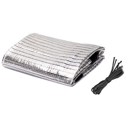 Lona Reflexiva del Papel de Aluminio Shade Shade Neto de Efecto Invernadero Neto Toldo de Vela Planta Cubierta de la Red 2x2 (Color : Silver, Size : 2MX2M)