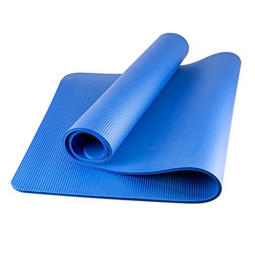TPE Protección Ambiental insípido 2cm Yoga Mat impermeable espesado antideslizante unisex de ejercicio físico Mat Deportes Niños estera de arrastre de la estera que acampa Inicio Mat ( Color : Azul )
