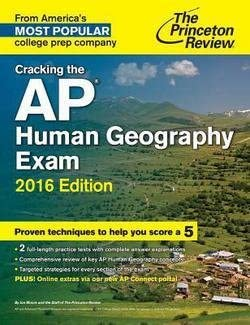 Cracking the AP Human Geography Exam Paperback by Jon Moore 2015 Edition product image