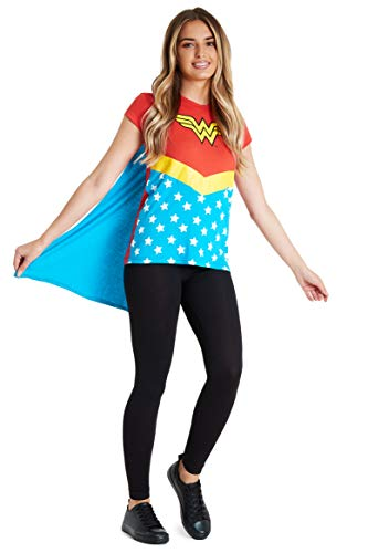 Wonder Woman T-shirt Costume with Cape by DC Comics. S, M