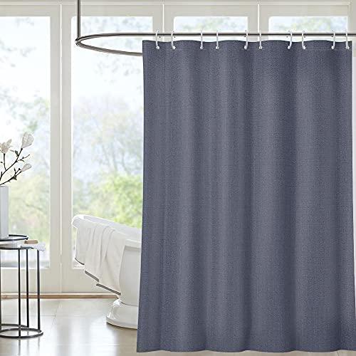 i@HOME Duschvorhang 180*200 cm Anti-Schimmel Wasserabweisend Waschbar Anti-Bakteriell grau Duschvorhäng aus Polyester Badvorhang mit 12 Duschvorhängeringen