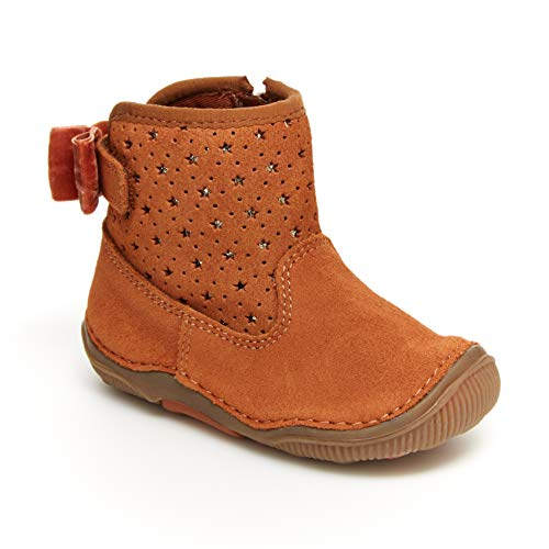 Stride Rite Girls SRT Angie Bootie First Walker Shoe, TAN, 7 Toddler