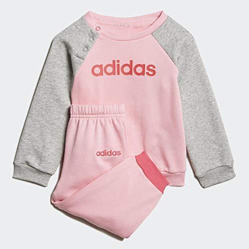 adidas Baby-Jungen I Lin Jogg FL Trainingsanzug, Rossua/weiß, 80
