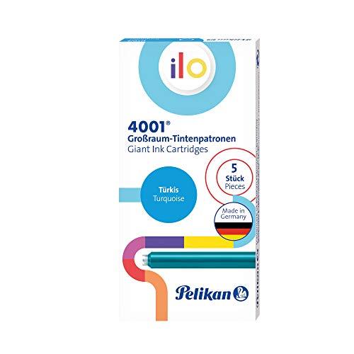 Pelikan 301503 4001 Ilo - Cartucho de tinta (5 cartuchos en caja plegable), color turquesa