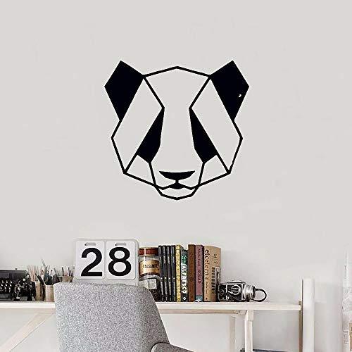 ZRbMR Geometrie Wandtattoo Panda Tier Origami Tür Fenster Vinyl Aufkleber Schlafzimmer Wohnzimmer Kinderzimmer Büro Innendekor Wandbild 74x76 cm