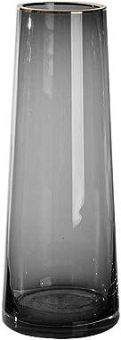 SHUTING2020 Vase d'art Vase de Verre Transparent Gris Accueil Salon Cuisine Desktop Simple Moderne Light Light Vase Vase