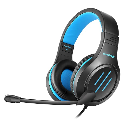 Cosmic Byte Blazar Headphone with Flexible Mic for PC, Mobiles, PS5, PS4, Xbox One, Tablets (Blue)