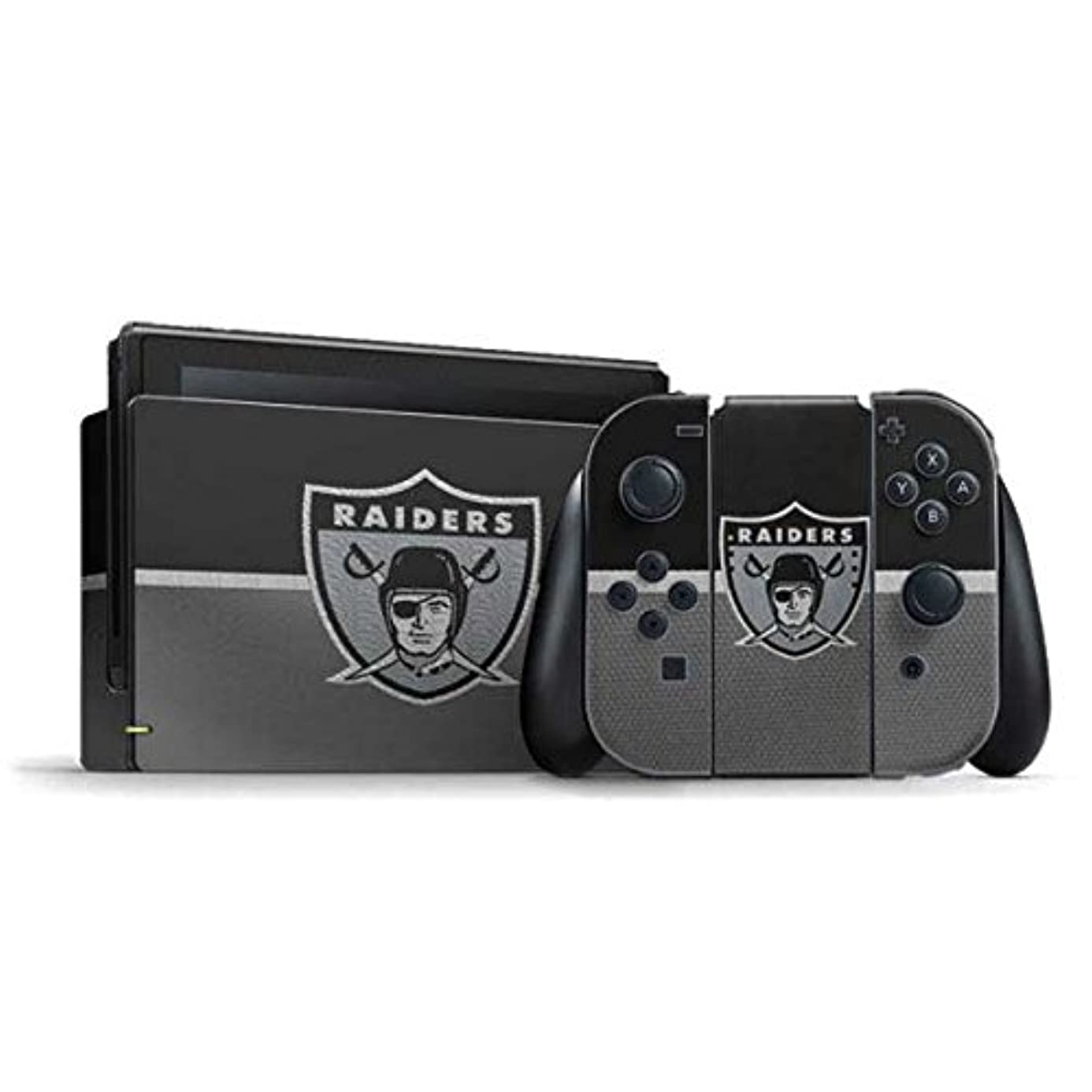 NFL Oakland Raiders Nintendo Switch Bundle Skin - Oakland Raiders Vintage Vinyl Decal Skin For Your Switch Bundle