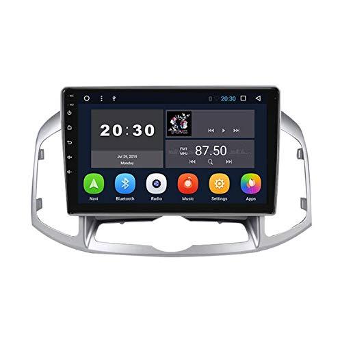 Para Chevrolet Captiva 2012-2016 AUDIO AUDIO STEREO SAT NAV SANTE TOUCHE PEAL UNIDAD AUTO RADIO MP5 Video Player con mapa GPS WiFi FM Receptor Bluetooth manos libres,8 core 4g+wifi: 4+64gb