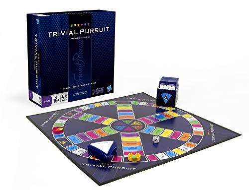 Hasbro Gaming Trivial Pursuit Master Edition Trivia Board Game for Adults and Teens Ages 16 and Up