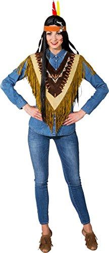 Orlob Unisex Kostüm Zubehör Western Indianer Poncho Karneval Fasching
