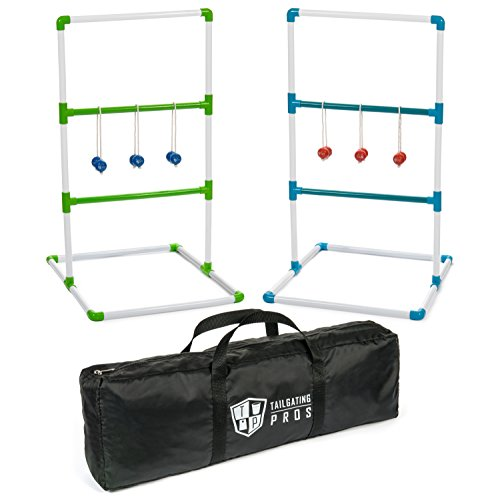 Tailgating Pros Premium Ladder Ball Game with Bolos and Carrying Case Ladder Toss