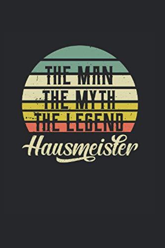 Kalender 2021 Hausmeister: Jahreskalender 2021 Doktorand als Geschenk-idee für Facility Manager mit The Man The Myth The Legend Motiv / ca. DIN A6 für ... / Terminkalender für Notizen in der Schule