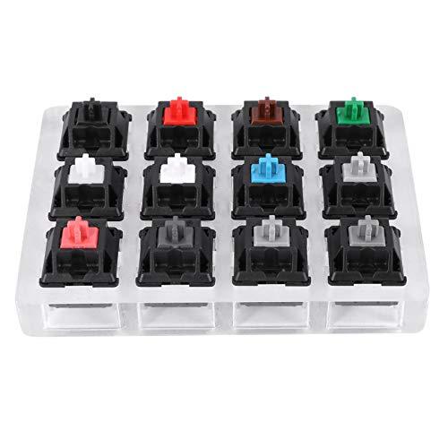 Rfvtgb Acryl Tastatur Tester 12 Klare Plastik Tastkappen Sampler für Cherry Mx Switches