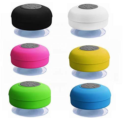 Altavoz portátil Hi-Fi inalámbrico Bluetooth, resistente al agua, apto para ducha, piscina, manos libres, con micrófono (negro)