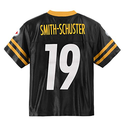 Outerstuff Juju Smith-Schuster Pittsburgh Steelers #19 Black Youth Home Player Jersey (Medium 10/12)
