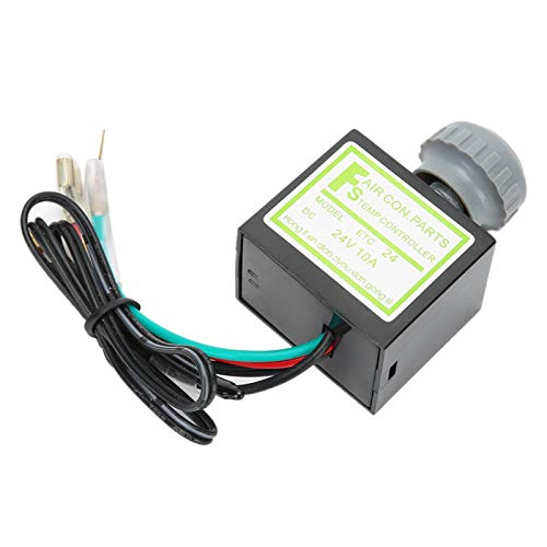 Termostato electrónico para acondicionador de aire 10A Interruptor de temperatura electrónico profesional duradero para A/C Control de temperatura para modificación de molduras para(24V)