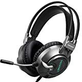 TECKNET Gaming Headset, 7.1 USB Surround Sound Headphones Headband With 2.2 Meter Cable