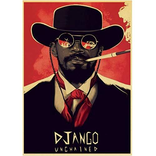 Keine Marke Quentin Tarantino Movie Posters Django Unchained Retro Póster Impresión Arte de la Pared Póster 40 × 60 cm sin marco