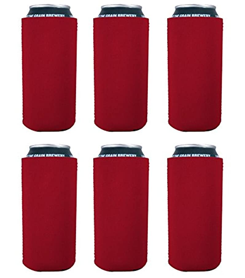 Blank Neoprene Collapsible 16 oz. Can Coolie (6, Red)