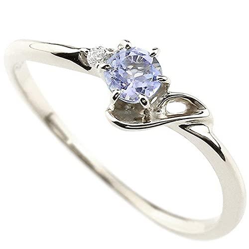[アトラス]Atrus 指輪 レディース 18金 ホワイトゴールドk18 タンザナイト ダイヤモンド イニシャル ネーム J ピンキーリング 華奢リング アルファベット 12月誕生石 人気 28号