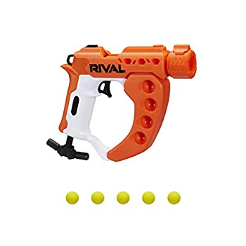 NERF Rival Curve Shot -- Flex XXI-100 Blaster -- Fire Rounds to Curve Left Right Downward or Fire Straight -- 5 Rival Rounds
