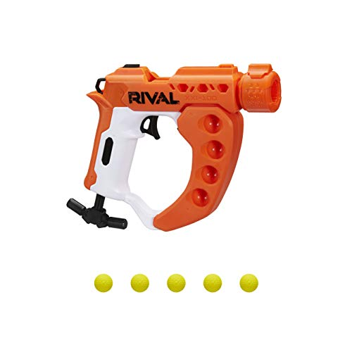 NERF Rival Curve Shot -- Flex XXI-100 Blaster -- Fire Rounds to Curve Left, Right, Downward or Fire Straight -- 5 Rival Rounds