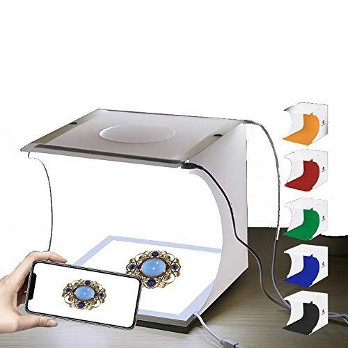 TxDike Lan Foto-Box-Studio-Kit, Tragbare Schmuck-Lichtbox, Klappbare Fotokabine, Wasserdichter Bildschirm, Zelt-Lichtbox,Upgrade