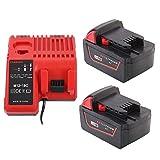 2 baterías de litio de 18 V 5,0 Ah con cargador...