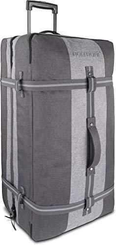 normani XXL Reisetasche mit 125 Liter und 3 großen Fächern - Trolley mt Zwei Rollen Farbe Dunkelgrau/Grau