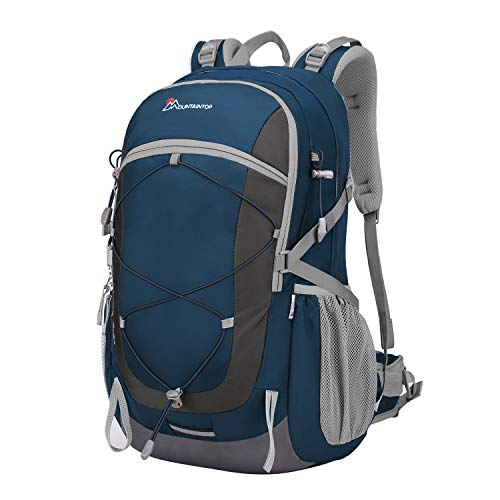 Mountaintop 40 Liter Unisex Hiking/Camping Backpack (Sapphire Blue1)
