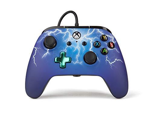 PowerA Erweiterter kabelgebundener -Controller für Xbox One – Spinnenblitz