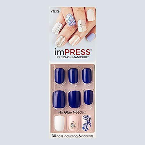 """KISS imPRESS""""KISS & TELL"""" Short Press-On Manicure Nails"""