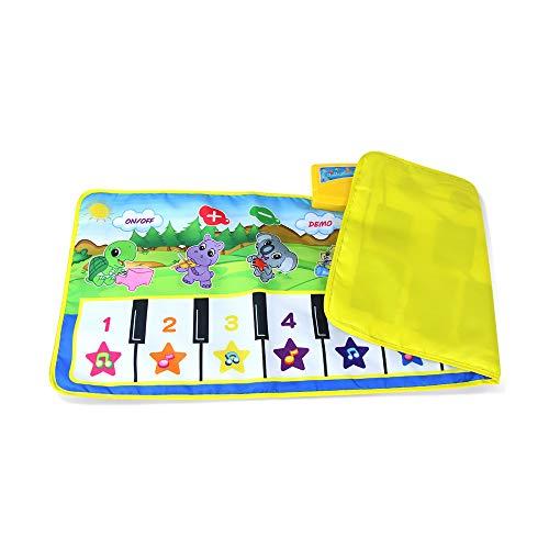 AAFF Piano Matte Kinder, Tanzmatten Musikmatte Klaviermatte Keyboard Matten 10 Klaviertasten 8 Instrumente rutschfest Spielteppich Jungen Mädchen, Jungen Mädchen Geschenke